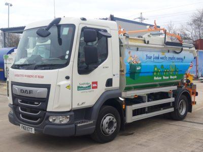 Tandridge food waste collection vehicle for Biffa