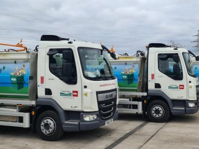 Tandridge food waste collection vehicles for Biffa
