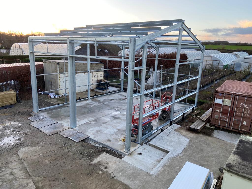Workshop construction starts on site